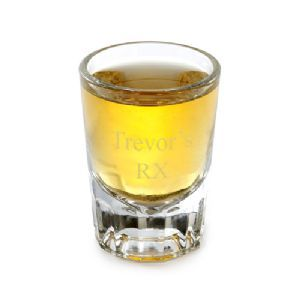Personalized Engraved 2 oz Distinction Shot Glass comes engraved with a name/initials and the name of his favorite libation on a attractive traditional shot glass.