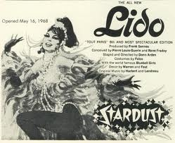 Lido de Paris came to The Stardust in Vegas during the 1950s