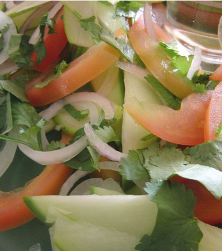 Green mango Summer salad