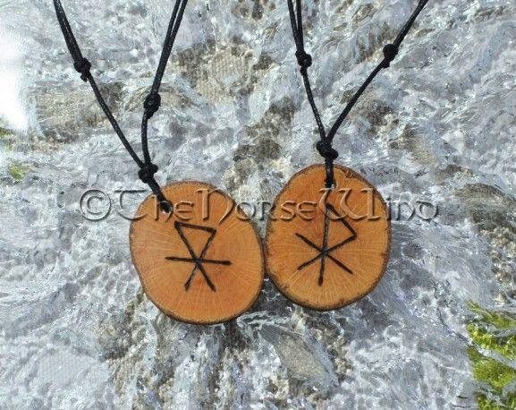 55cc5f22cd037 Love Talisman Personalized Set of 2 Viking Amulets Rune Couples ...