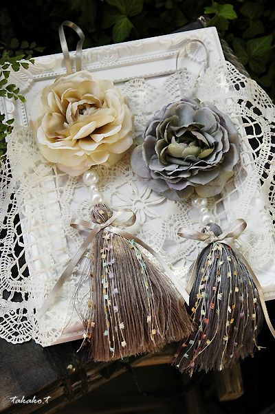 Diy tassel idea. Think I can make the base tassel myself with a wooden bead and embroidery thread.