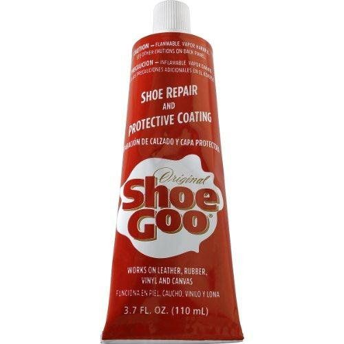 Shoe Goo, Clear Shoegoo http://smile.amazon.com/dp/B002L9AL84/ref=cm_sw_r_pi_dp_ft1Wtb1KYHR4QS9Q