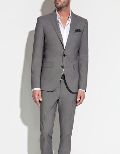 GREY STRIPED BLAZER - Suits - Man - ZARA