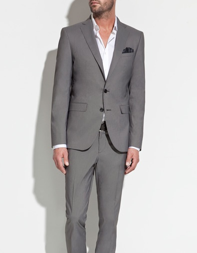 GREY STRIPED BLAZER - Suits - Man - ZARALight Pink Blazers, Men Clothing, Blazers Gris, Blazers Ränder, Men Style,  Suits Of Clothing, Grey Stripes, Stripes Blazers, Man Men