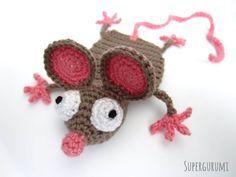 Padrão do crochet do marcador do rato