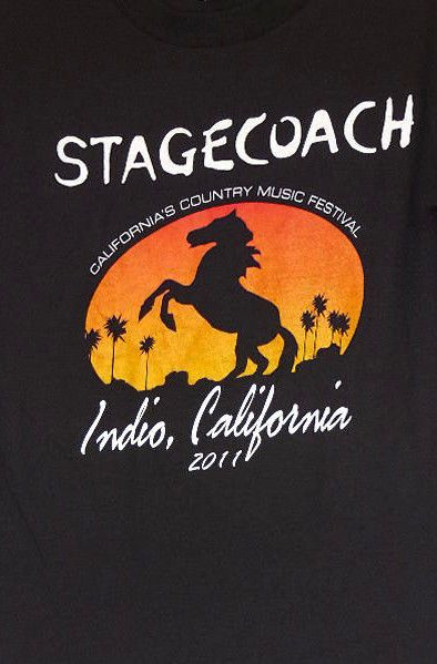 Stagecoach Country Music Concert 2011 Indio Black T-Shirt S Chesney Underwood #Alstyle #GraphicTee