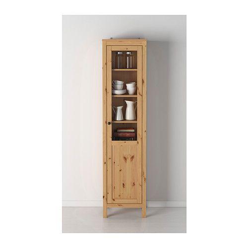 Perfect HEMNES Schrank mit Paneel Vitrinent r hellbraun IKEA