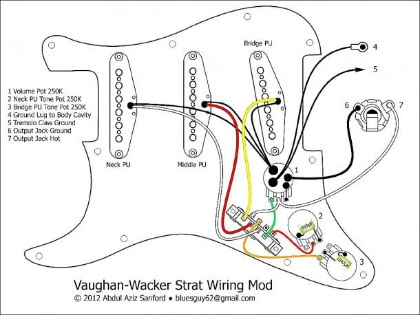 Fender Stratocaster Wiring Diagram Fender Stratocaster Guitar Diy Stratocaster Guitar