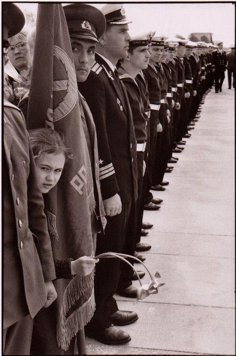 Почетный караул во время парада 9 мая. СССР, Ленинград, 1972 год.