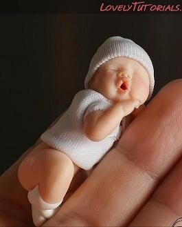 how to: sculpt a miniature baby tutorial not in English but that is so adorable! I made teeny babies when I was pregnant with ember!