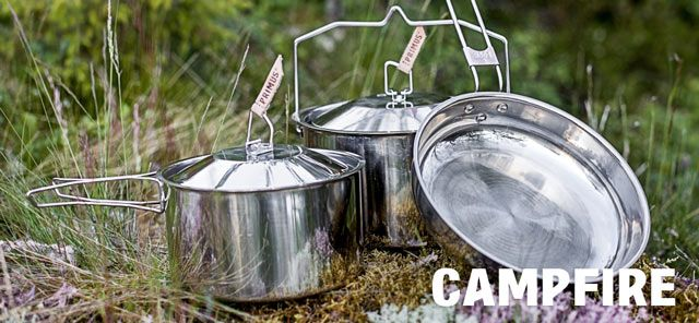 Our Campfire Pots are made of stainless steel without nonstick coating. These pots are best suitable for gourmets who enjoy culinary outings with friends and family.