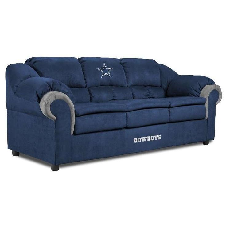 Dallas Cowboys Pub Sofas $749.00 #cowboys #nfl... i so need this. Biggest cowboys fan ever!!! So stinking awesome