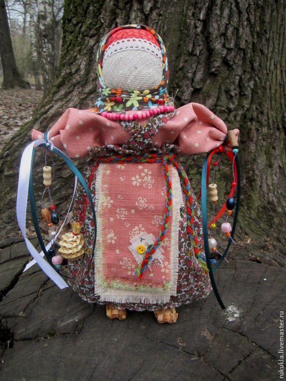 Купить Желанница - разноцветный, желание, народная кукла, лапти, бусины, традиционная кукла, тряпичная кукла