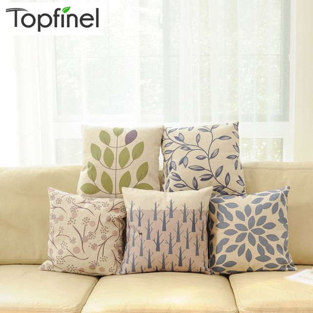Cheap Cushion Cover, Buy Quality Cushion Covers For Pillows Directly From  China Cushion Air Suppliers: Top Finel 2016 Leaves Pattern Decorative Throw  ...