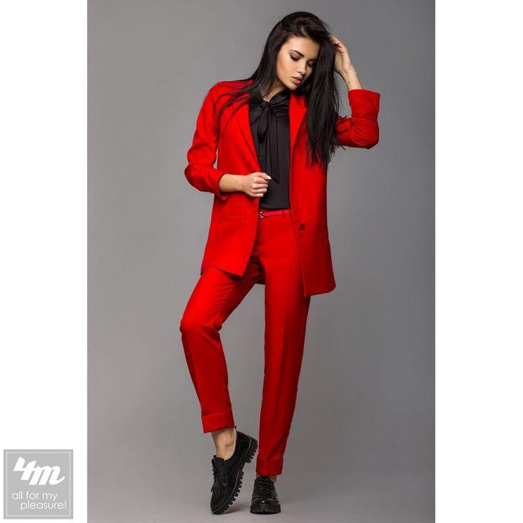 """Костюм Leo Pride «Жасмин KJ 1194» (Красный) http://lnk.al/49AT  Деловой строгий женский костюм """"Жасмин"""" для деловых встреч и офисного Dresscode#женскийкостюм #стильнаяодежда #стильныевещи #наряд #одеждаУкраина #4m #4m.com.ua"""