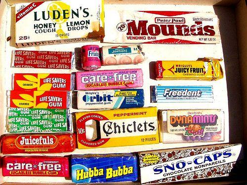 1970s & 1980s candy & gum by mankatt, via Flickr
