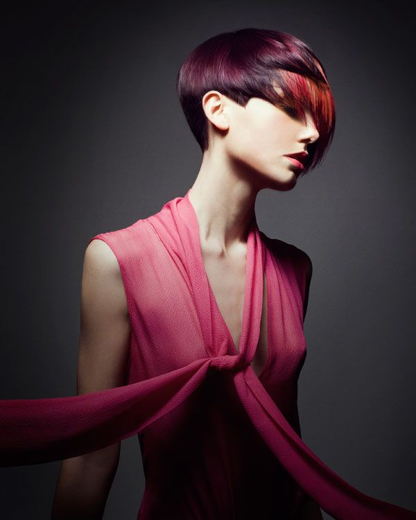 Butterfly Effect - Nature Inspired by Dimitrios Tsioumas. #orange #red #purple ModernSalon.com