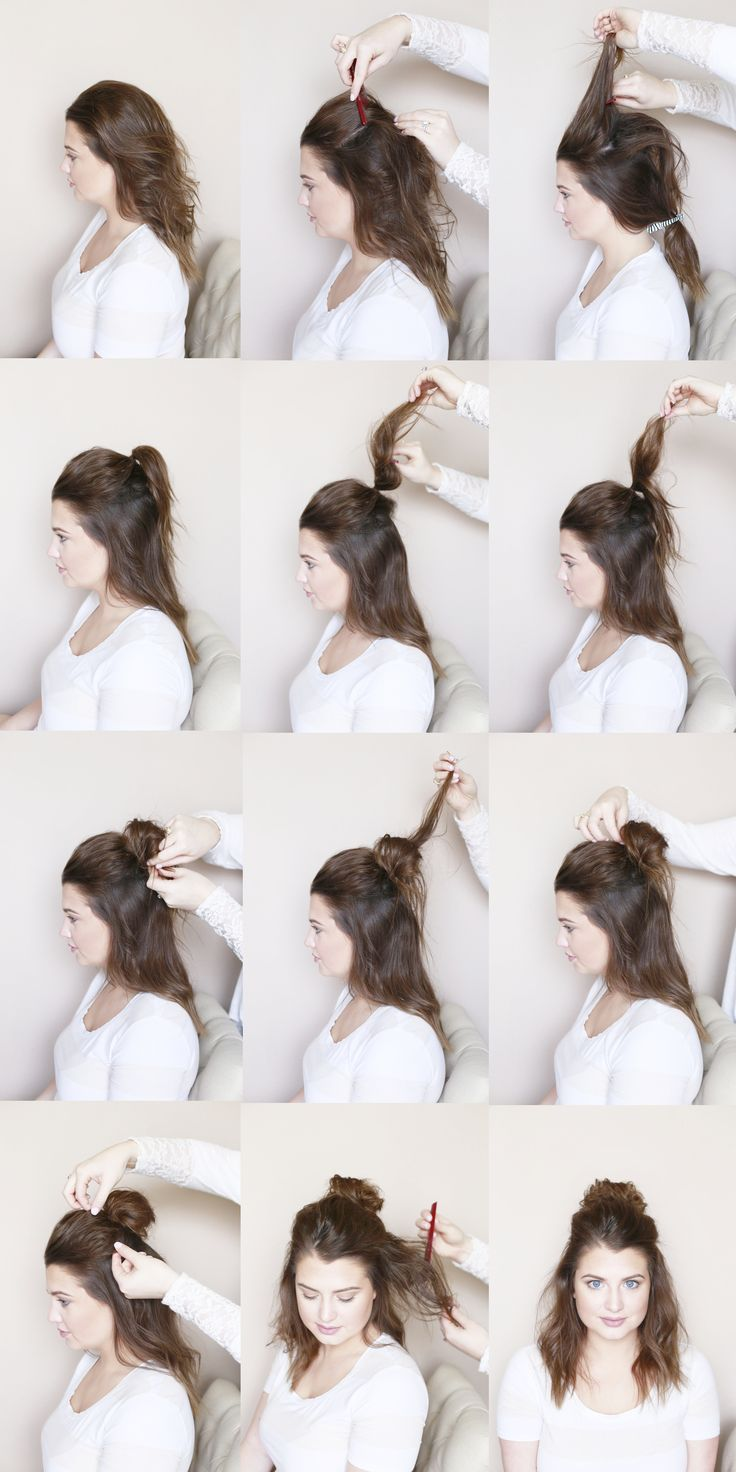 Half up messy top knot, tutorial, sunkissed and made up, hair blogger, hair and …