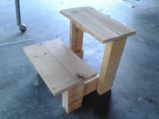 Projek Diy Pallet Pertama Iaitu Membuat Tangga Mini Atau Kerusi Kanak D I Y