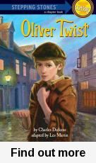 This book is a simplified retelling of an orphan boy in nineteenth-century London. This poor kid escapes after being sold to apprenticeship with an undertaker and later a gang of thieves takes him in and teaches him how to steal. It is sad, creepy and ends with happy ending. This book is easy to read with big type, stacks of pictures and easy wordings but it still manages to express the mood and excitement of the original. Rosa