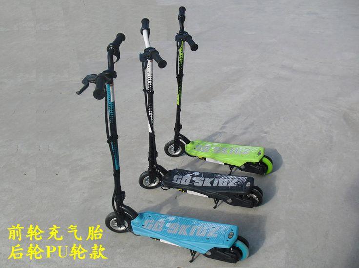 Надувные переднего колеса ударопоглощение e-scooter 16 км/ч электрический скутер с 12 В 4.5Ah * 2 - свинцово-кислотных аккумуляторов бесплатная доставка