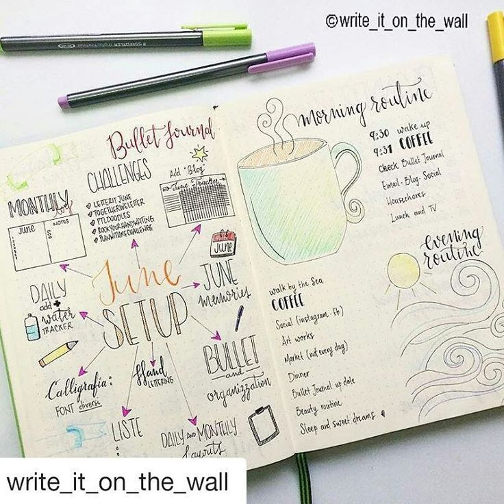 Delightful month prep from @write_it_on_the_wall! #bulletjournalcollection
