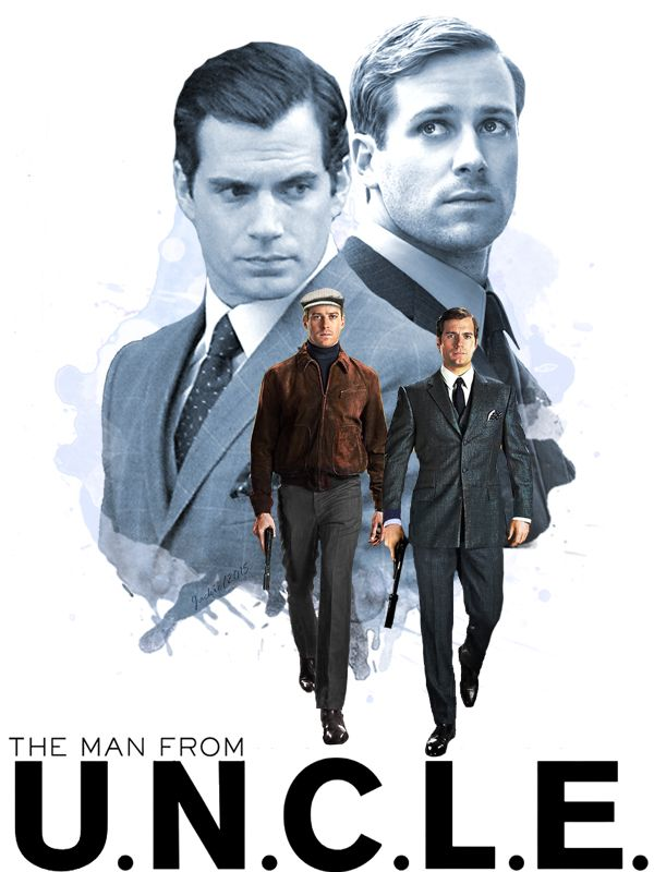 The Man From Uncle fan art #HenryCavill #ArmieHammer #TheManfromUNCLE