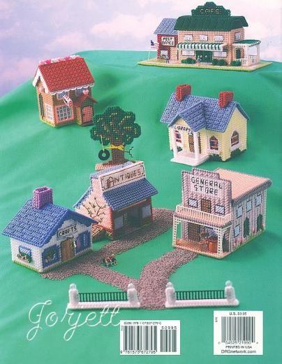 Hometown Villages House Cottage Plastic Canvas Patterns