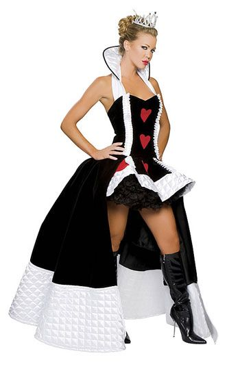 Enchanting Queen Of Hearts Deluxe Costume