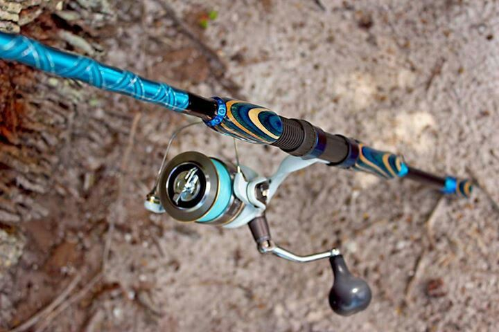 Beautiful fishing pole made by belfunkl custom rods for Custom fishing poles
