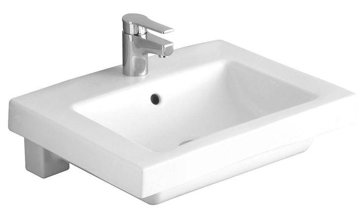 Alföldi Liner 5109 L1 R1 beépíthető mosdó 61 x 47 cm fehér Easyplus bevonattal