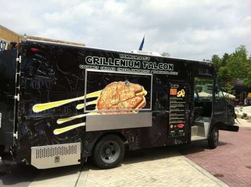 The Grillenium Falcon is Inspired by Star Wars #grilledcheese trendhunter.com