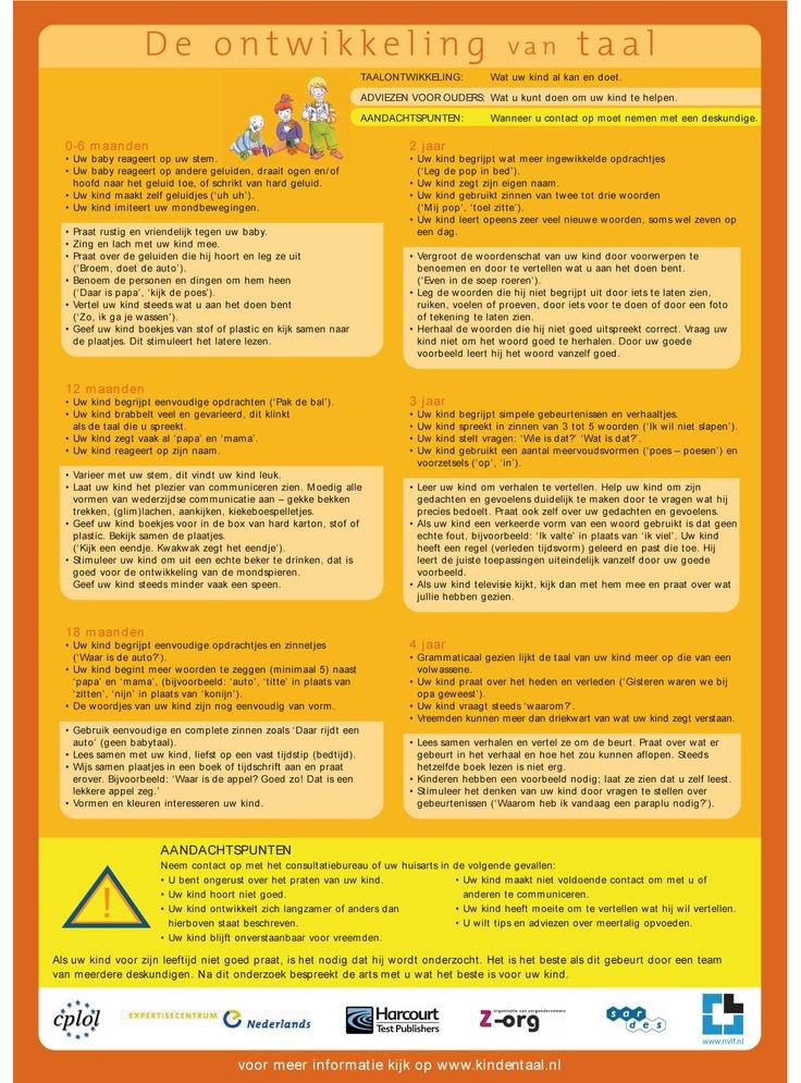 De ontwikkeling van taal, adviezen en aandachtspunten. | NVLF.nl