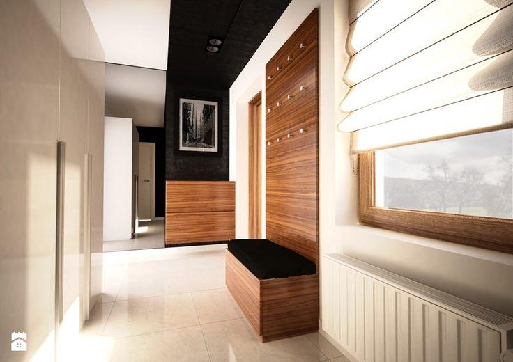 Aranżacje wnętrz - Hol / Przedpokój: Projekt wnętrz domu jednorodzinnego-Realizacja 2013/2014 - Hol / przedpokój, styl…