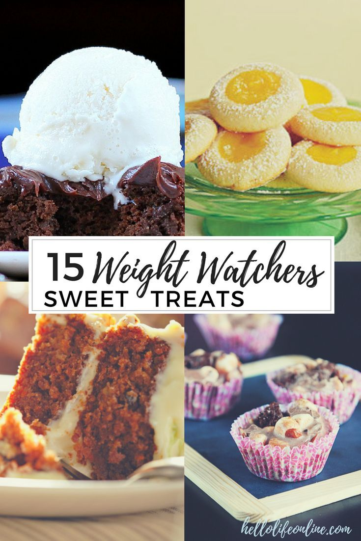 15 Weight Watchers Treats- These recipes makes it easy to stick to your Smartpoints allowance while enjoying chocolate, cake, and cookies! Yumm!