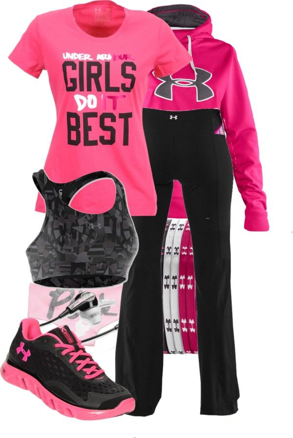 I so want this as my work out outfit its way cute. Under Armour Women s  workout…   Polyvore-Exercise, Sports   Swimwear in 2019   Clothes, Nike  shoes, ... 65a7aed44a