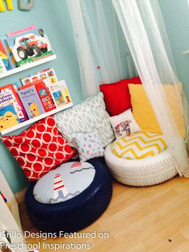 Make a cozy area, quiet area, or book nook with this recycled tires tutorial.