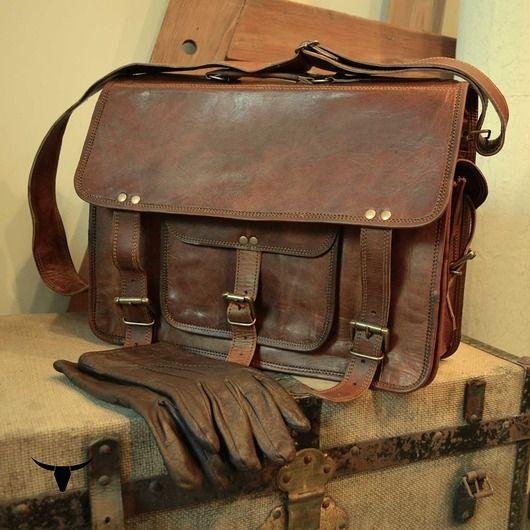 akcesoria - torby i nerki - męskie-Skórzana torba - ZADRA BAG