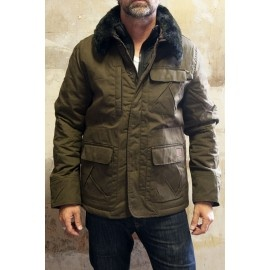 Perfect for this autumn/winter: Schott Parka Short Winch Waxed Kaki  for £149.95 available @ http://bootsjeansandleathers.com/mens-leather-jackets/schott-winch-waxed-kaki-short-parka