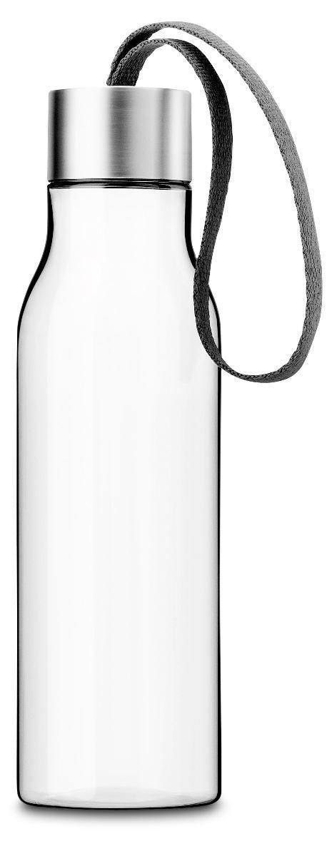 Drikkeflaske i grå, kapacitet 0,5 liter.