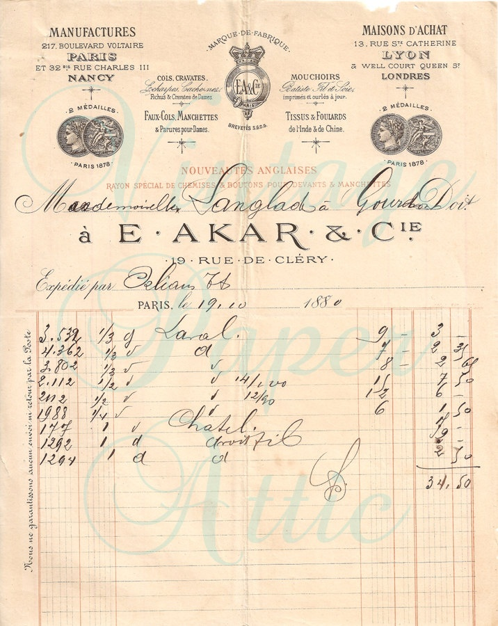 13 best Old invoices images on Pinterest Vintage paper, Art and - written invoice