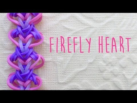 how to make a heart with loom bands without loom