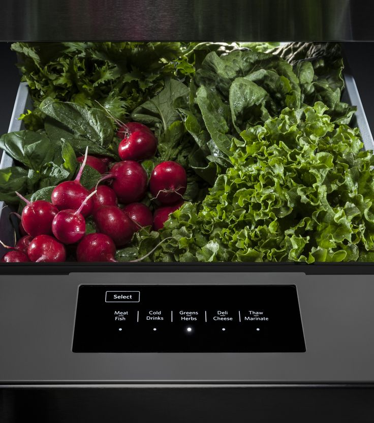 KitchenAid Refrigerators Feature A Temperature Controlled Drawer With Five  Preset Settings Specialized For Vegetables,