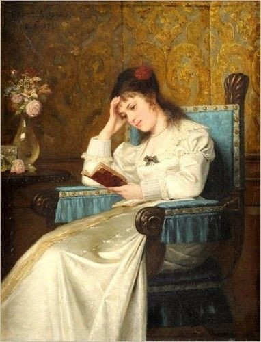 ✉ Biblio Beauties ✉ paintings of women reading letters & books - Ernst Anders | Reading