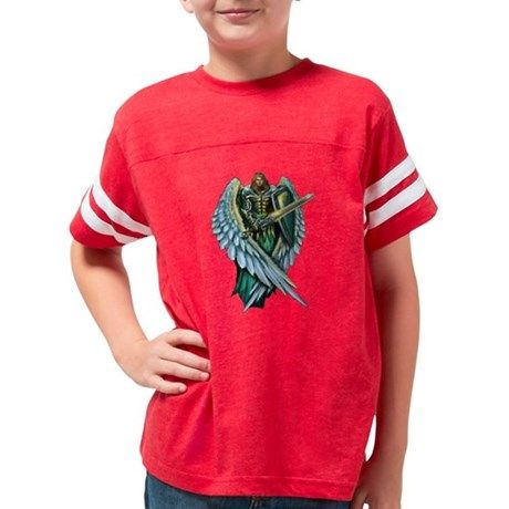 Archangel Michael Youth Football Shirt on CafePress.com