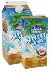 almond & coconut milk blend: only 45 calories per cup! so much tastier than regular milk, too