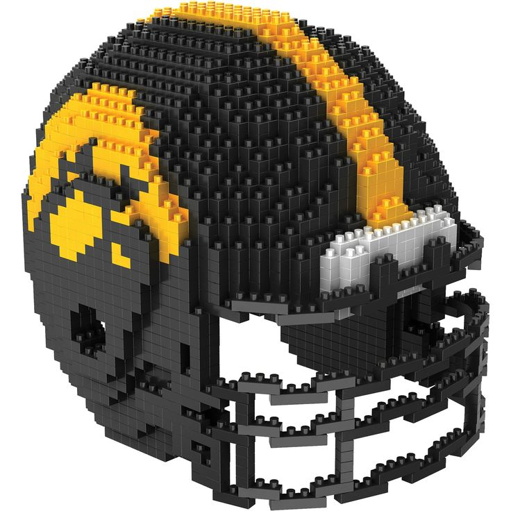 Iowa Hawkeyes NCAA 3D BRXLZ Helmet Puzzle Set Steelers
