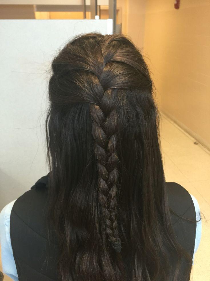 Half French braid, half down