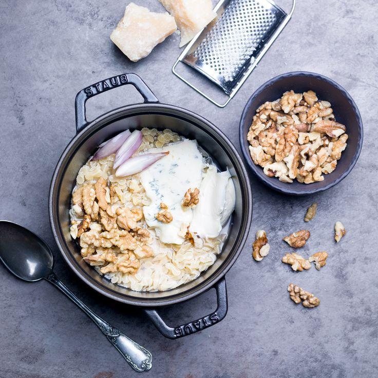 Voir la recette du one pot pasta orecchiete noix gorgonzola