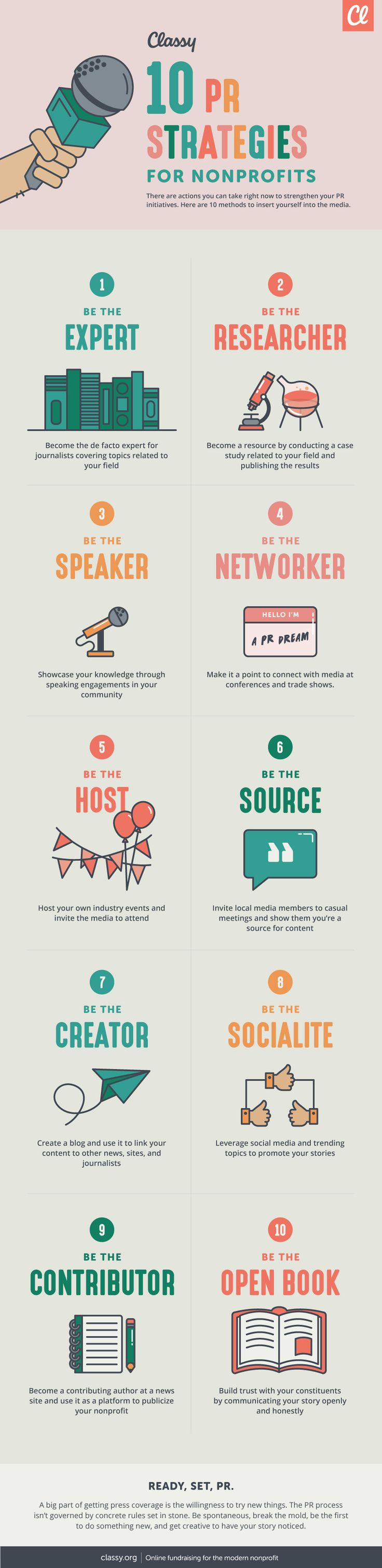 10 PR Strategies for Your Nonprofit Infographic